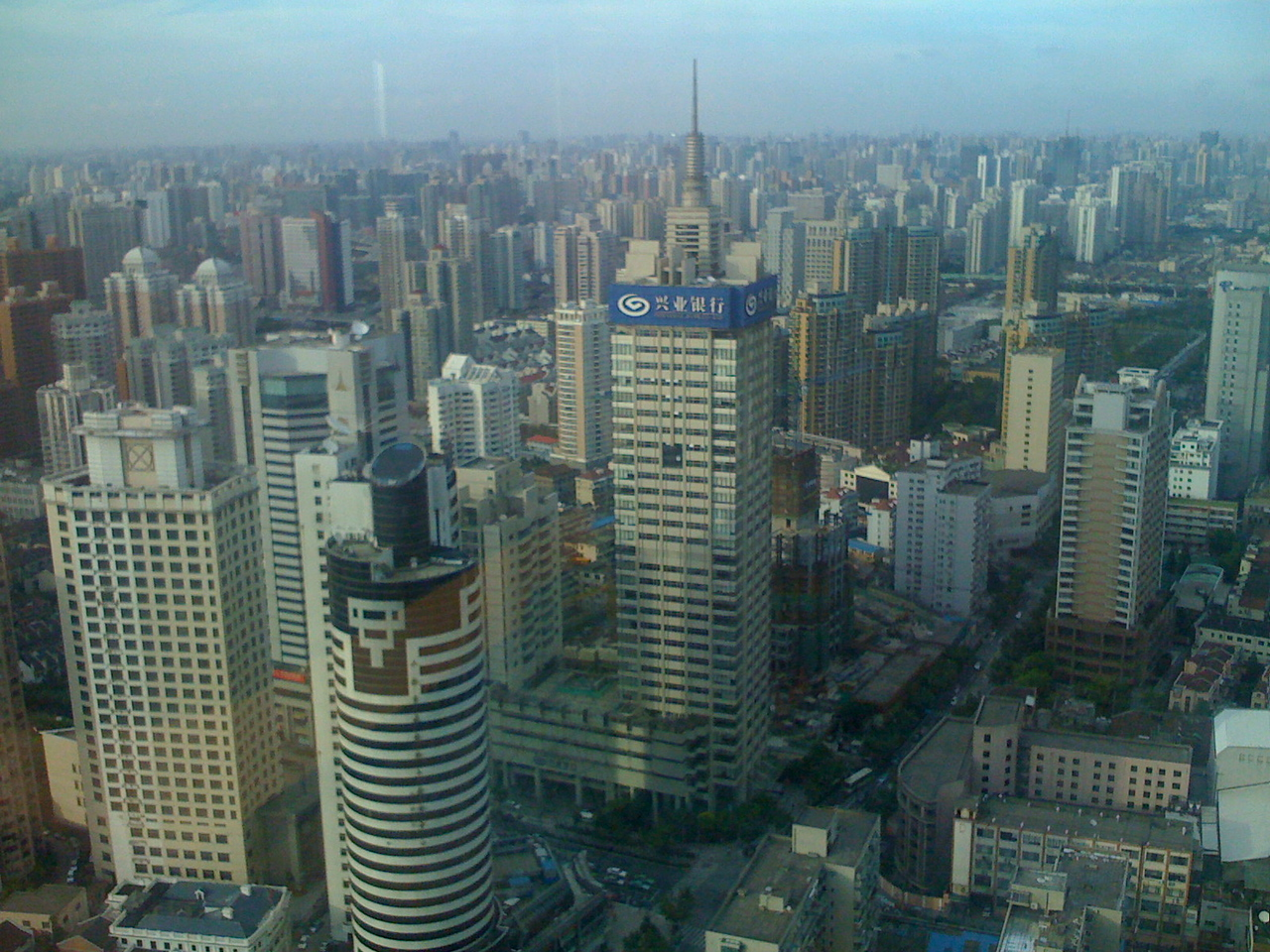 The view of Shanghai, which keeps going and going and going, from our offices at Plaza 66.