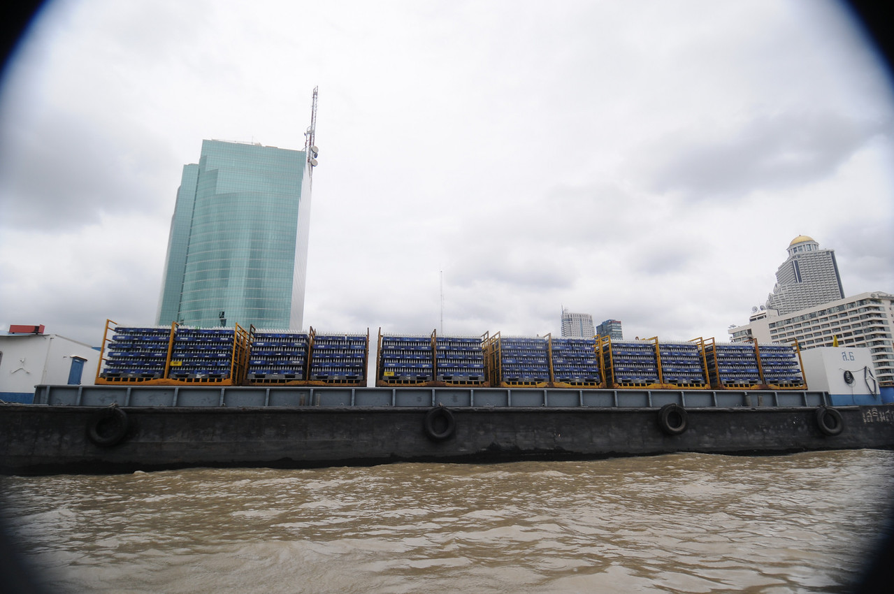 A barge full of empty Pepsi bottles!