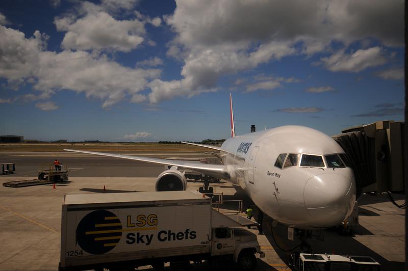My bird taking me to Sydney.  The stunning Hawaii sky above.