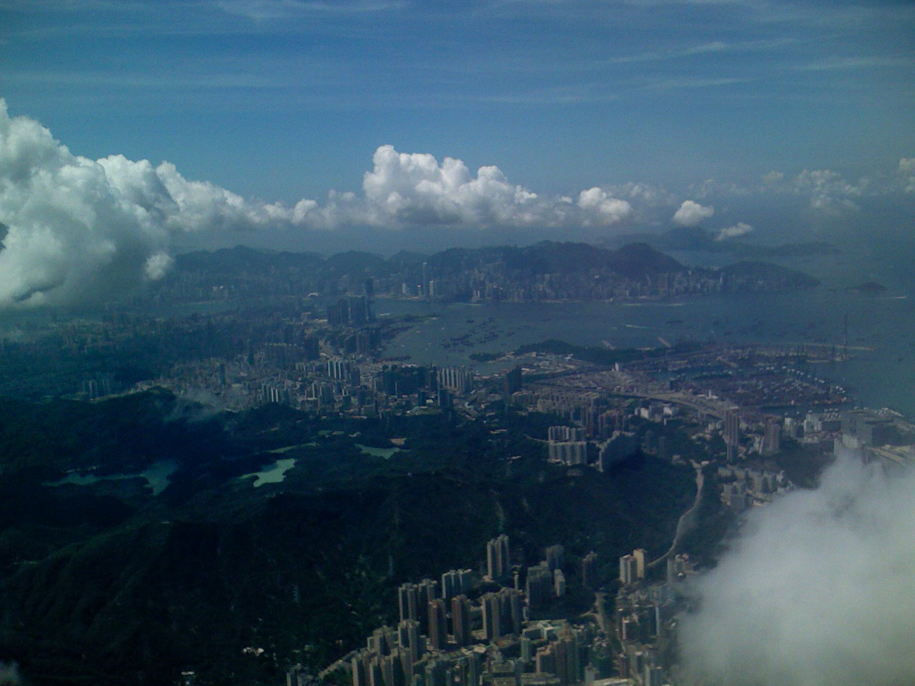 Taken during approach to Hong Kong International Airport after an overnight flight form Bangalore.