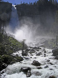 Vernal Falls flowing hard, Yosemite