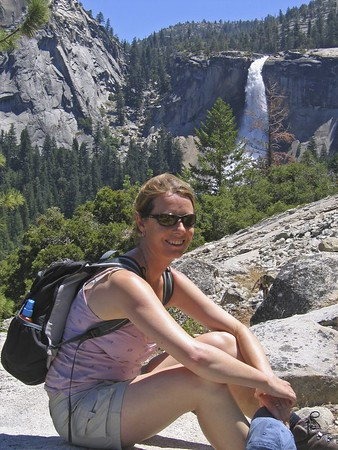 Sarah and Nevada Falls,Yosemite