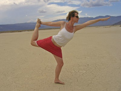 Real Bikram yoga, Death Valley style