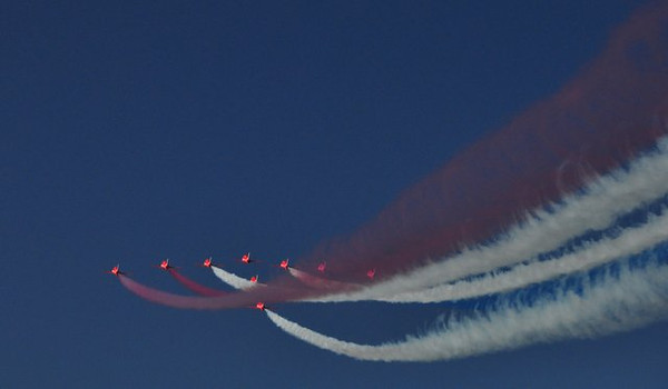 Red Arrows in Muscat
