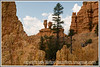 View of rock formations and balanced rocks in Red Canyon in Utah