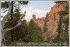 A view of rock formations in Red Canyon in Utah