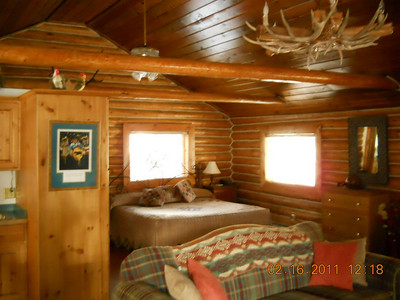 This is the Stoney cabin.... Maggie and I dibs this....   Actually to encourage couples to attend this may be a door prize upgrade at check in!  Fantastic room