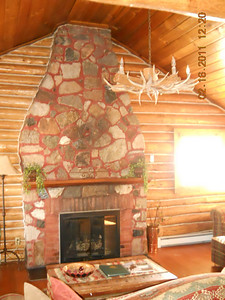 Stoney cabin seating area