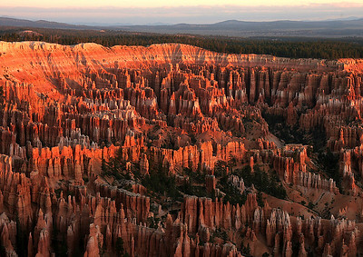 Bryce Canyon at sunrise.