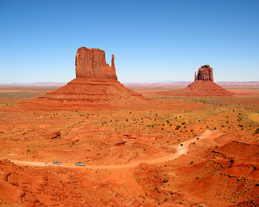Monument Valley, scene for many a cowboy movie.