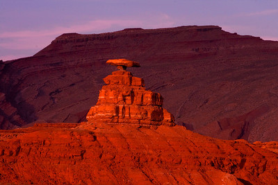 Mexican Hat rock formation.