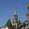 Saint Basil's Cathedral (or Pokrovsky Cathedral), Red Square, Moscow <br /> <br /> The Spasskaya Tower is the background.