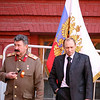 """Joseph Stalin"" and ""Vladimir Putin"" at Red Square, Moscow"
