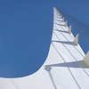 The single support tower of the Sundial Bridge, designed by Santiago Calatrava. Redding, California.