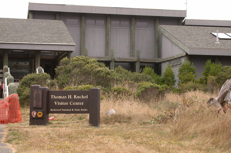 Southernmost Visitor Center for Redwood NP is right on the beach