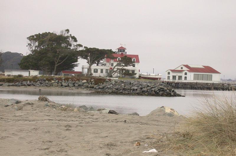 Coast Guard station on ocean side of Humboldt Bay.