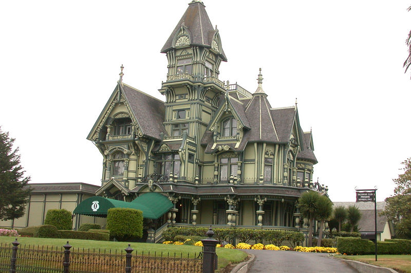 The Palmer House in Eureka, built by a timber baron.  Too bad there are no tours.