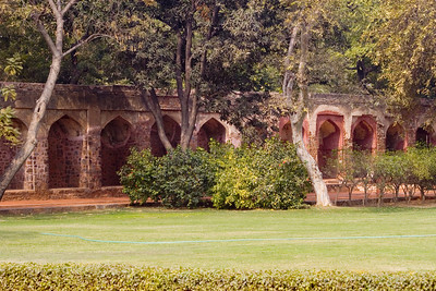 The grounds at the Humayun Tomb in New Delhi, India.