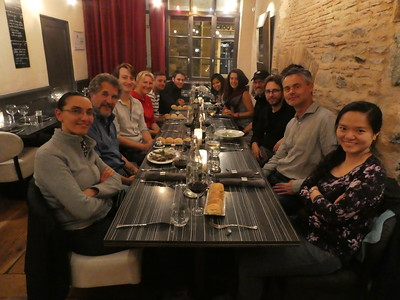 The conference team at dinner in Rennes