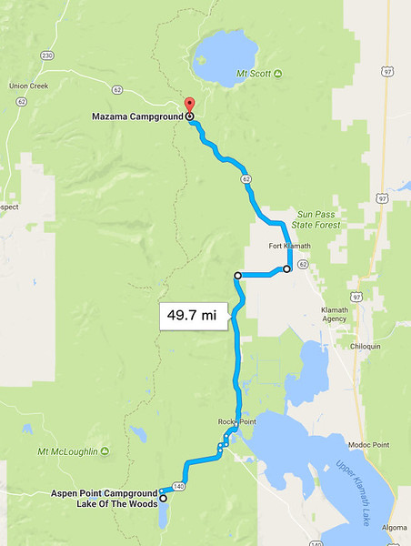 Saturday, July 22: Another beautiful day as I rode to Crater Lake.