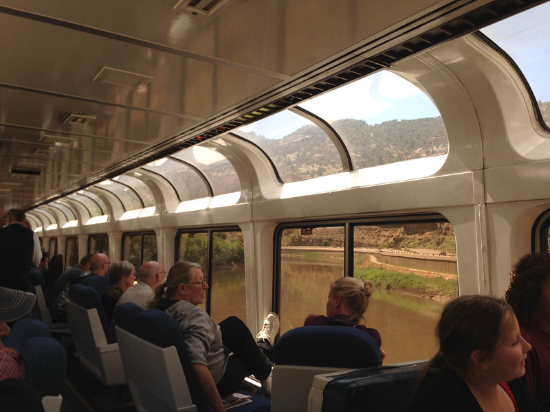 In Chicago I changed to the train to Reno. I spent most of my time in the sightseer lounge car.
