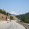 The shoulder of the interstate is wide and smooth, but all the noisy traffic makes it hard to enjoy the scenery.