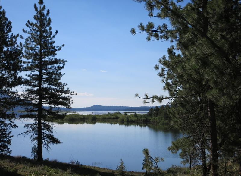 Lake Davis in the morning.