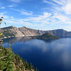 Crater Lake. The picture doesn't really capture how beautifully deep blue the water is.