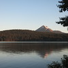 Mt. McLoughlin over Lake of the Woods at sunrise, from the  Aspen Point campground.