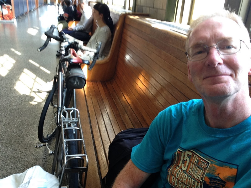 On July 12, 2017, I rode my bike to Penn Station in Baltimore, wheeled my bike into the baggage car, and boarded the train to Chicago.