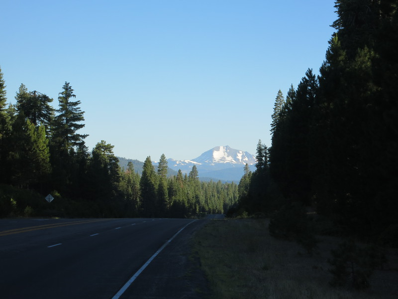 I thought I'd get much closer views of Lassen Peak, but this was it. Last eruption: 1917.