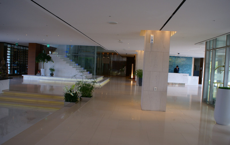 The Reception area of the Doosan Guest House