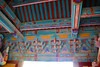The intricate paintwork of the heavenly gate protecting the heavenly kings of the Bulguksa Temple