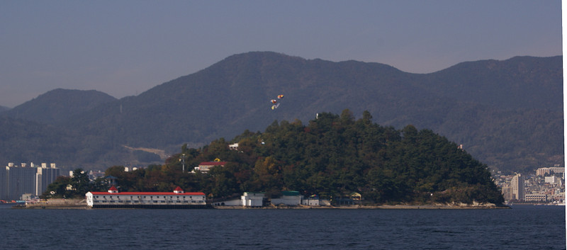 Island for recreations in Masan Bay
