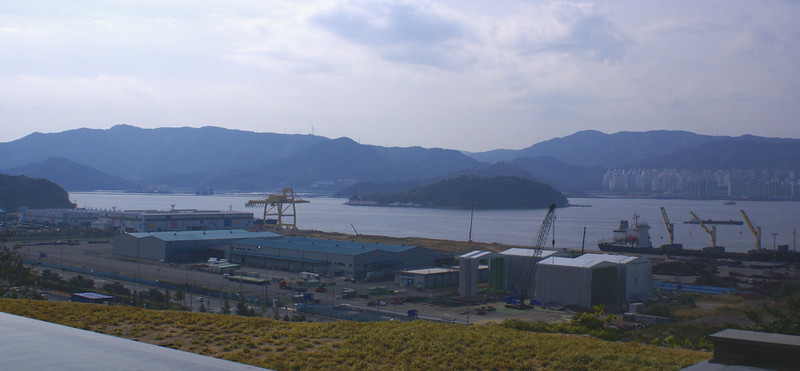 View over Masan Bay from the Doosan Guest House