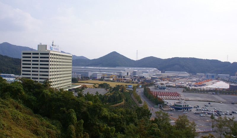 View of part of Doosan Heavy Industries' works at Changwon