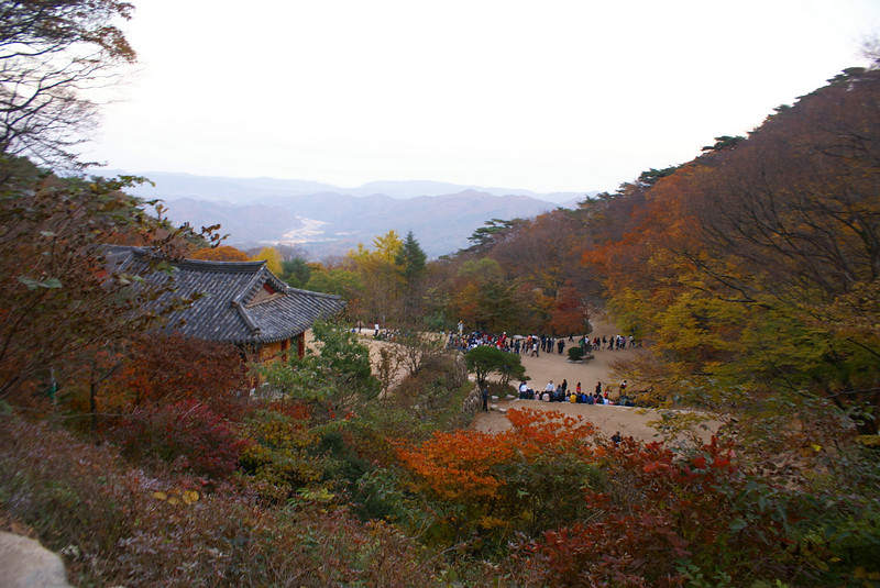 Lastly, at dusk, we visited the Seokgulam Grotto - this is the view from the Grotto towards the Japan Sea