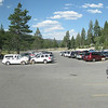 Parking lot for Club event cars
