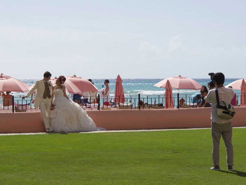 Well-manicured grounds make the Royal Hawaiian a great place for your wedding photos.