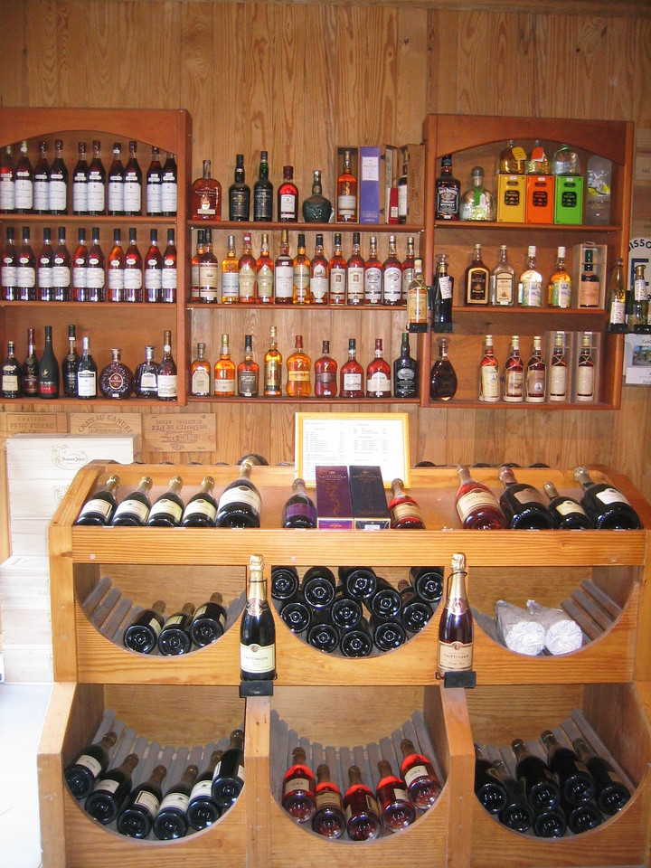 In addition to wines, La Cave du Port Franc overs a variety of spirits, including rhums from Guadeloupe and Martinique, and cachaça from Brazil. (geotagged)