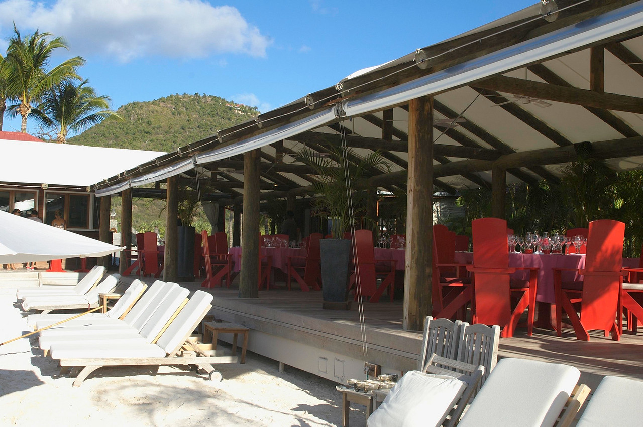 Another view of the beachside restaurant at Eden Rock.