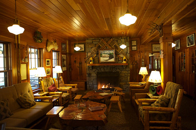 Inside the lodge at Essex, Montana