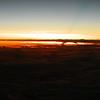 Madagascar Sunset from 33,000 feet.