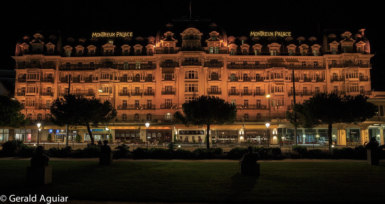Montreux Palace at Night