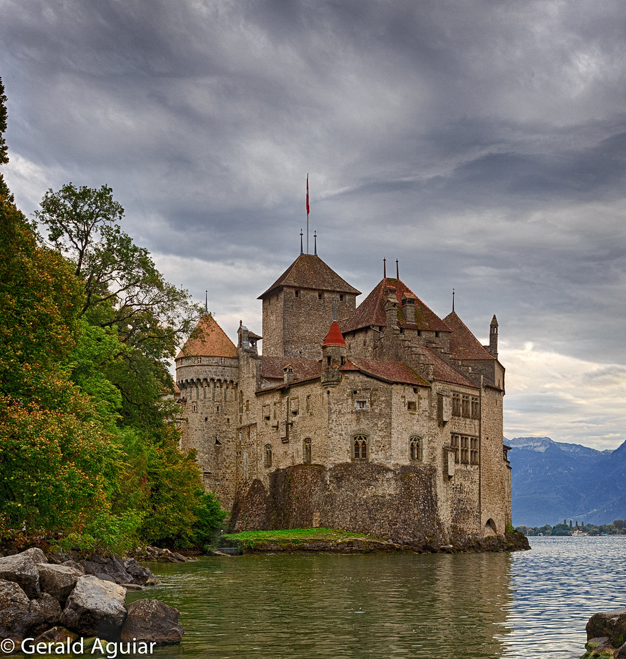 This castle was one of the first buildings in Montreux.  It dated back 600 years.