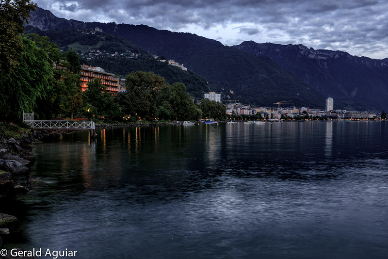 Montreux Bay at Dusk