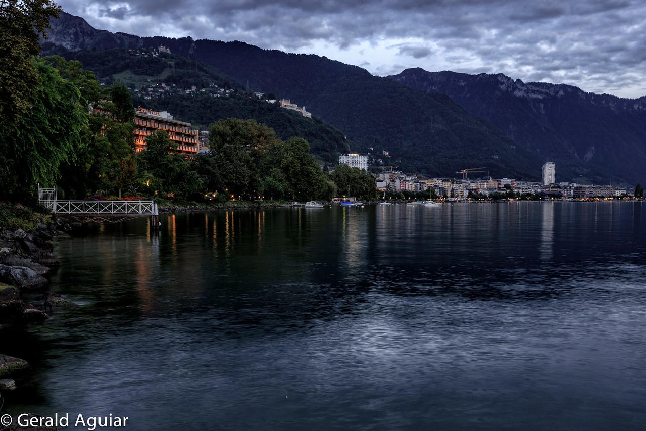 Montreux Bay at Dusk