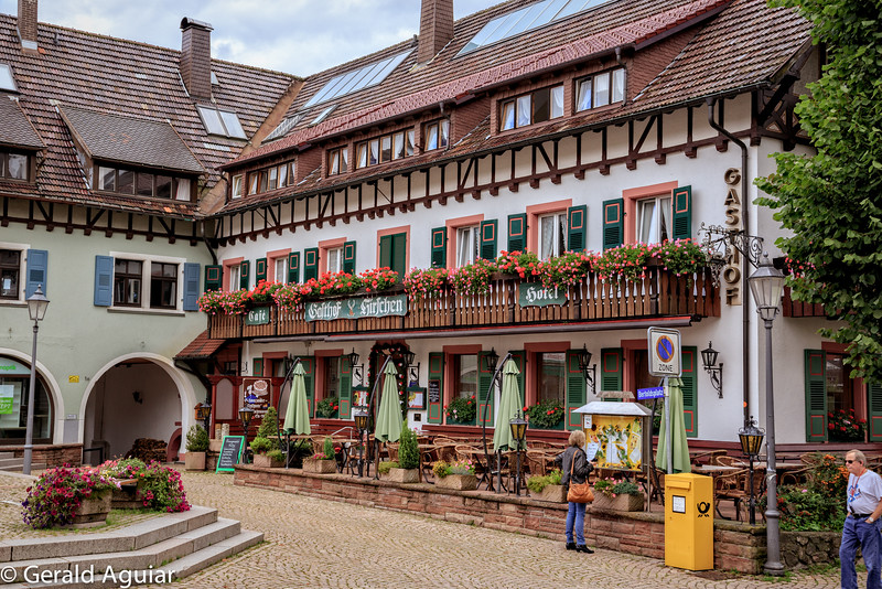 Cafe and Hotel in the Black Forest