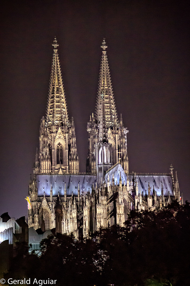 Illuminated Cologne Cathedral