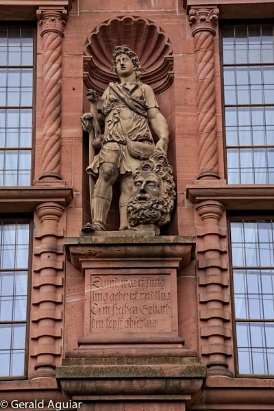 David and Goliath Statue